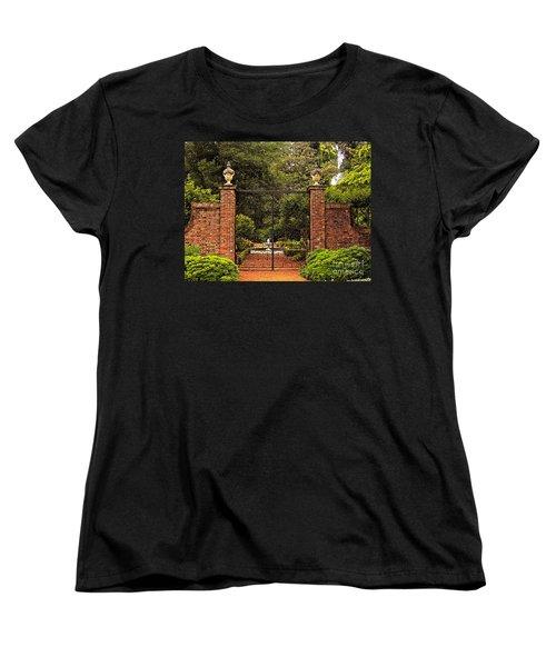 Elizabethan Gardens Women's T-Shirt (Standard Cut) by Lydia Holly