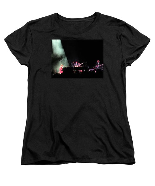 Elton And Band Women's T-Shirt (Standard Cut) by Aaron Martens