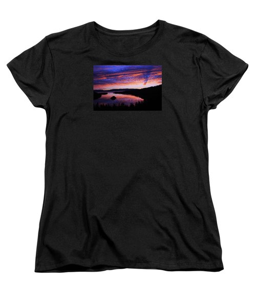 Women's T-Shirt (Standard Cut) featuring the photograph Emerald Bay Awakens by Sean Sarsfield
