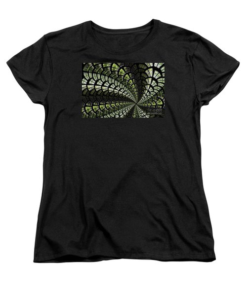 Women's T-Shirt (Standard Cut) featuring the photograph Emerald Whirl. by Clare Bambers