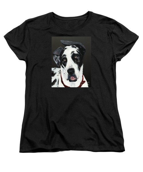 Women's T-Shirt (Standard Cut) featuring the painting Emma by Mary Lynne Powers