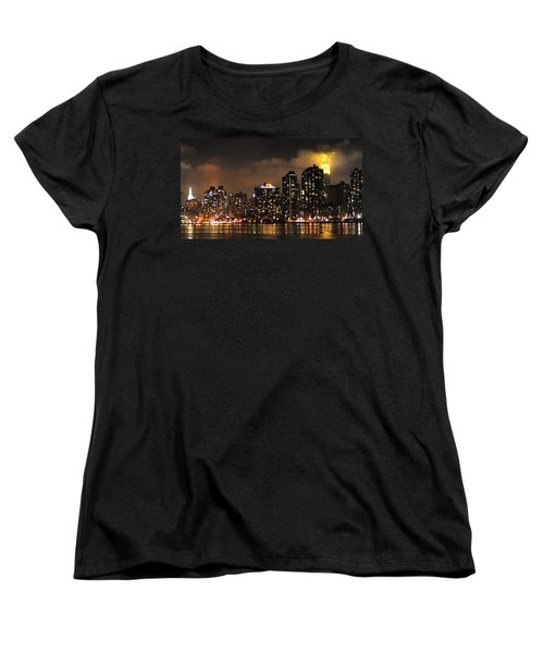 Empire State Building From Long Island City Women's T-Shirt (Standard Cut) by Steve Archbold