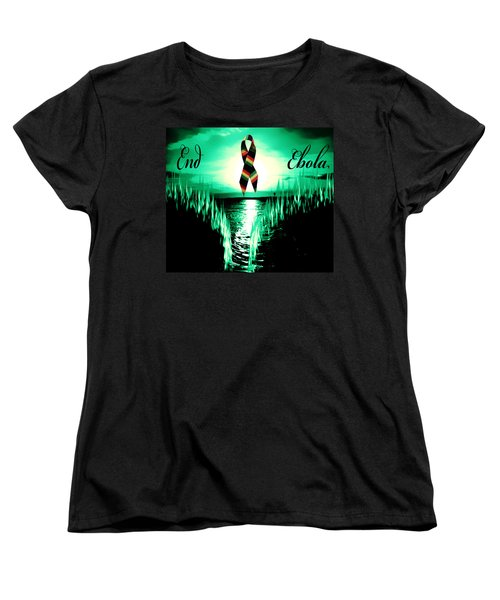 Women's T-Shirt (Standard Cut) featuring the photograph End Ebola by Eddie Eastwood