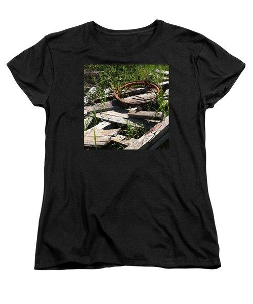 Women's T-Shirt (Standard Cut) featuring the photograph End Of The Line by Meghan at FireBonnet Art