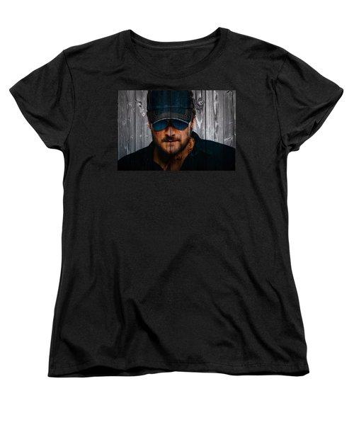 Eric Church Women's T-Shirt (Standard Cut) by Dan Sproul
