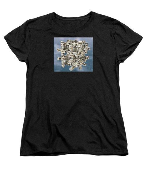 Escher's Construct Women's T-Shirt (Standard Cut) by Manny Lorenzo