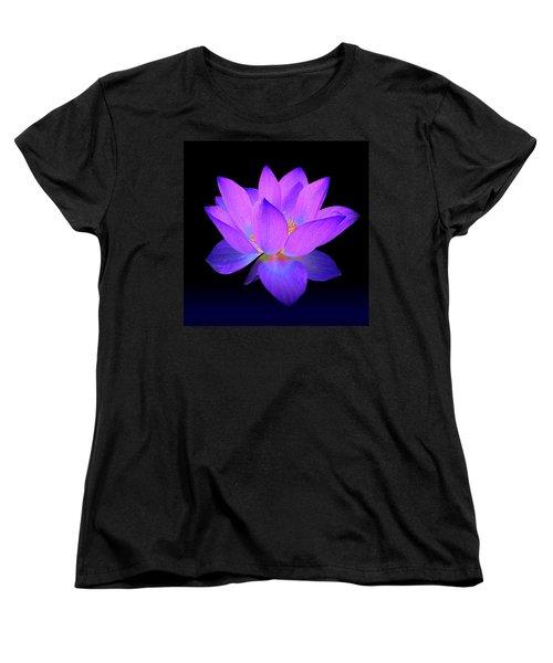 Evening Purple Lotus  Women's T-Shirt (Standard Cut)