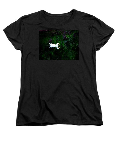Women's T-Shirt (Standard Cut) featuring the photograph Evening Swim by Greg Simmons