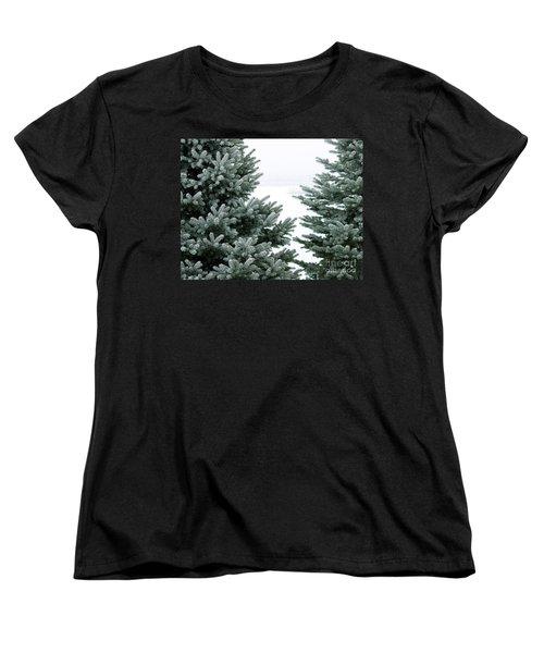 Evergreens Women's T-Shirt (Standard Cut) by Debbie Hart