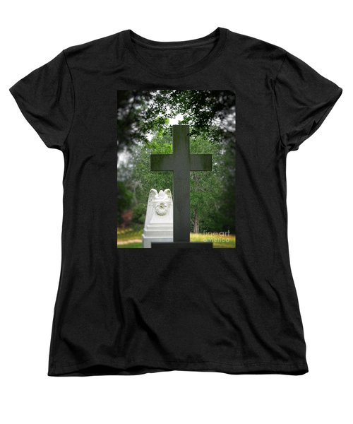 Women's T-Shirt (Standard Cut) featuring the painting Every Knee Shall Bow by Ella Kaye Dickey