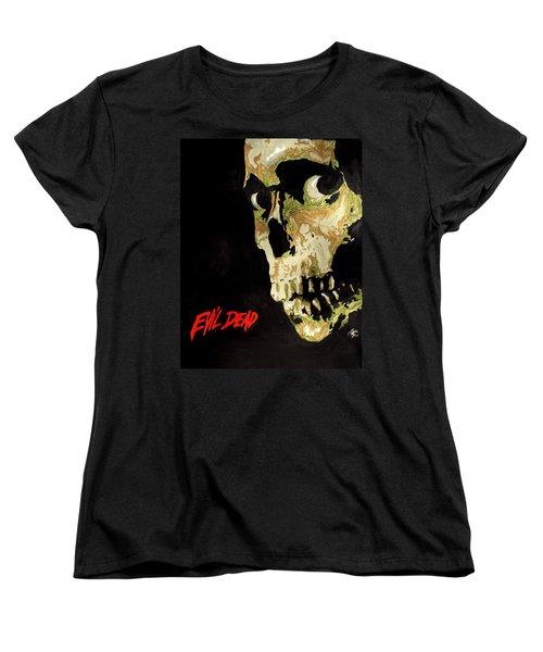 Evil Dead Skull Women's T-Shirt (Standard Cut) by Marisela Mungia