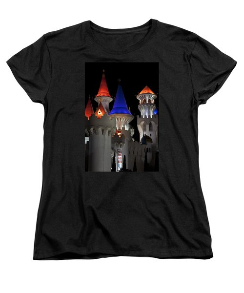 Excalibur Casino After Midnight Women's T-Shirt (Standard Cut) by Ivete Basso Photography