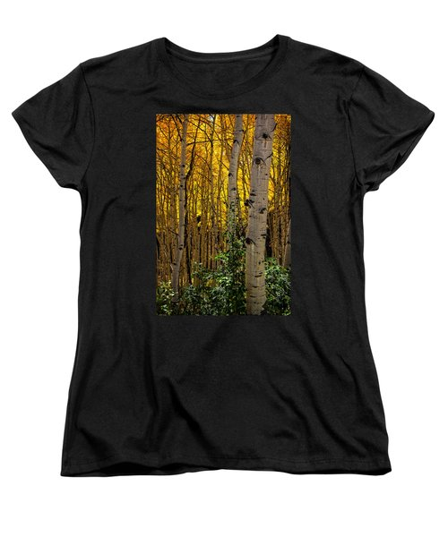 Women's T-Shirt (Standard Cut) featuring the photograph Eyes Of The Forest by Ken Smith