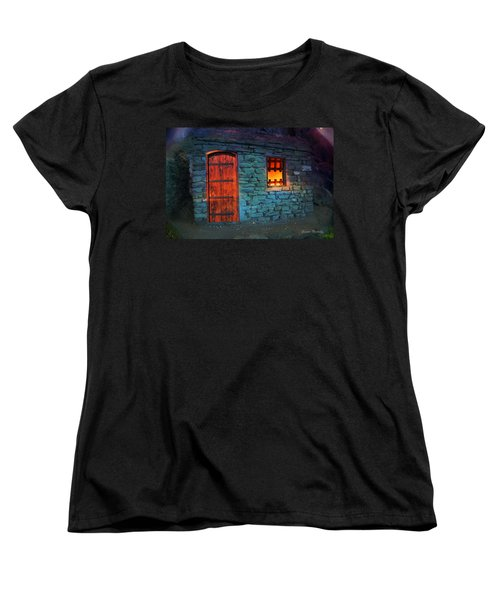Fairy Tale Cabin Women's T-Shirt (Standard Cut) by Gunter Nezhoda