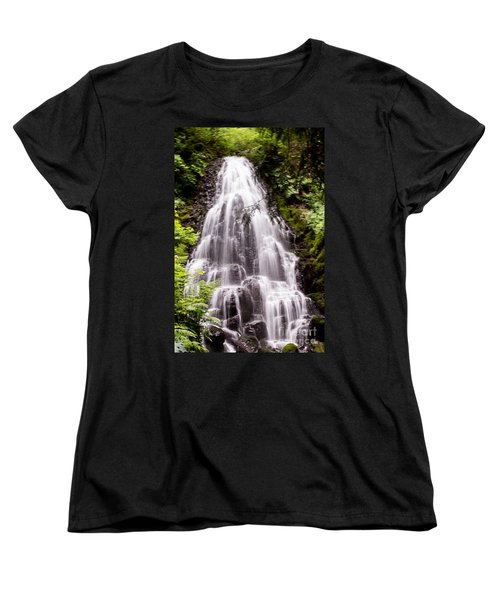Women's T-Shirt (Standard Cut) featuring the photograph Fairy's Playground by Suzanne Luft