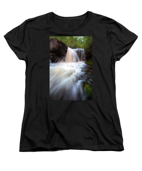 Women's T-Shirt (Standard Cut) featuring the photograph Fall And Splash by David Andersen