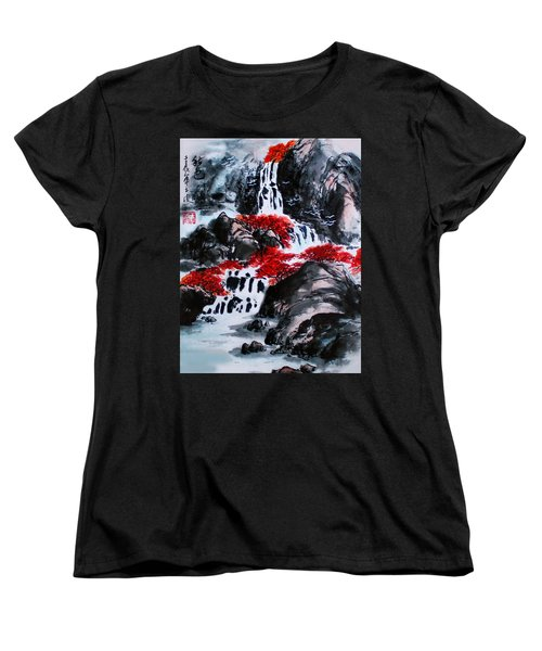 Fall Colors Women's T-Shirt (Standard Cut) by Yufeng Wang