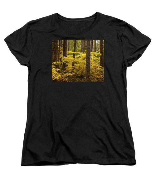 Fall Foliage Women's T-Shirt (Standard Cut) by Belinda Greb