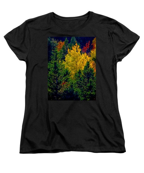 Fall Leaves Women's T-Shirt (Standard Cut) by Bill Howard