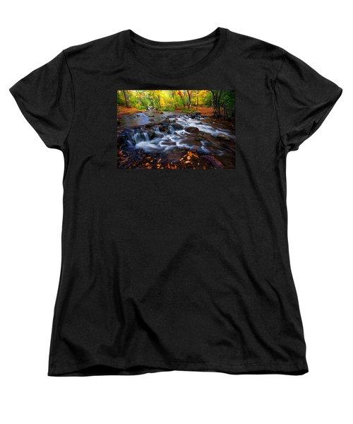 Women's T-Shirt (Standard Cut) featuring the photograph Fall On Fountain Creek by Ronda Kimbrow