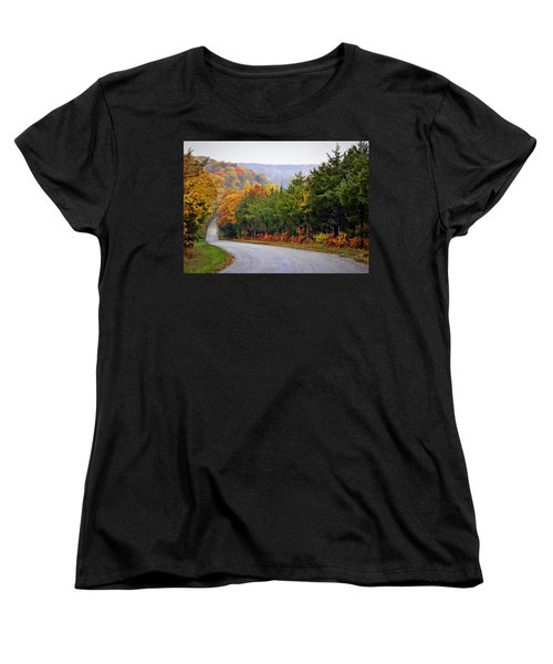 Fall On Fox Hollow Road Women's T-Shirt (Standard Cut) by Cricket Hackmann