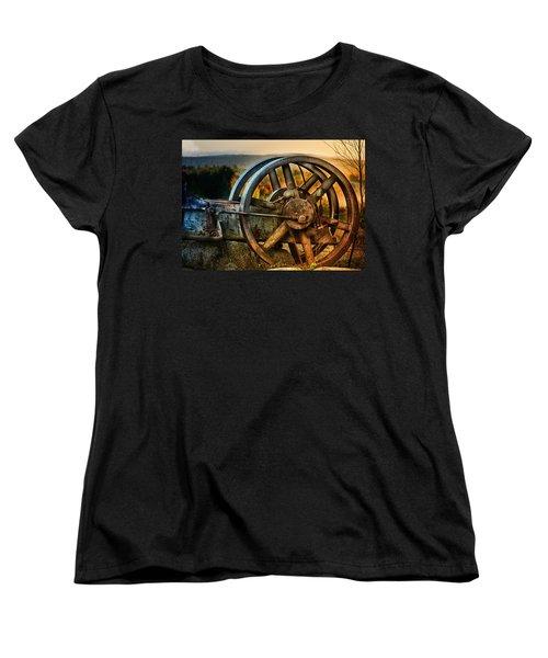 Fall Through The Wheels Women's T-Shirt (Standard Cut) by Susan Capuano