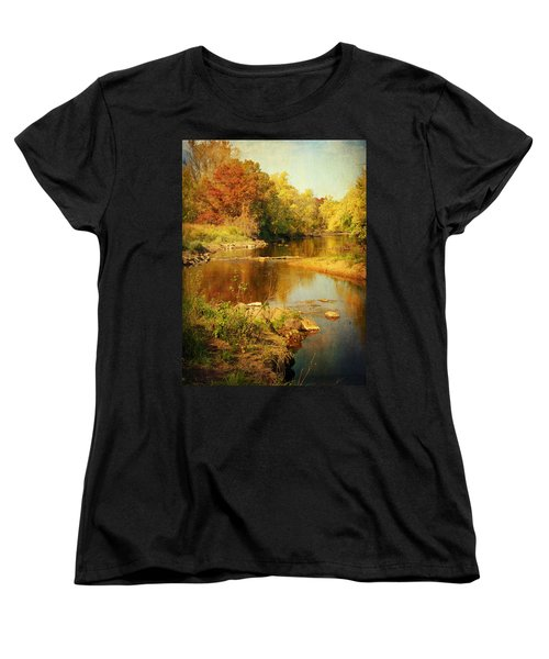 Fall Time At Rum River Women's T-Shirt (Standard Cut) by Lucinda Walter