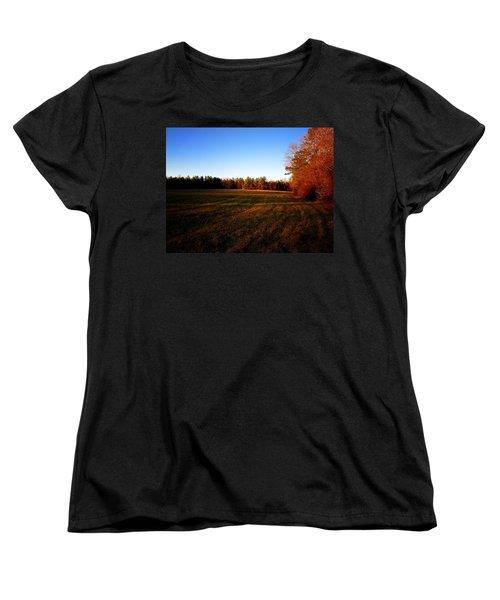 Women's T-Shirt (Standard Cut) featuring the photograph Fallow Field by Greg Simmons