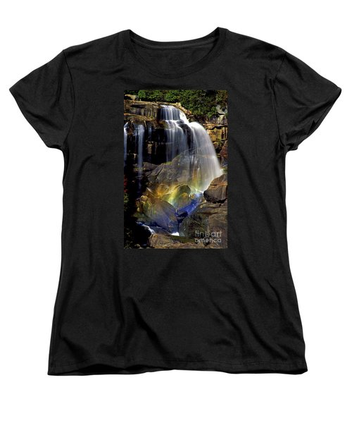 Falls And Rainbow Women's T-Shirt (Standard Cut) by Paul W Faust -  Impressions of Light