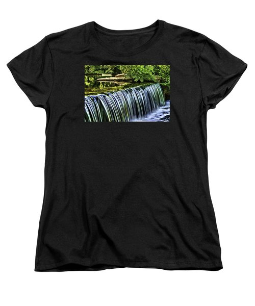 Women's T-Shirt (Standard Cut) featuring the painting Falls by Muhie Kanawati