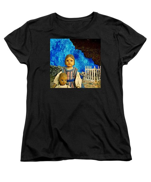 Women's T-Shirt (Standard Cut) featuring the mixed media Family by Ally  White