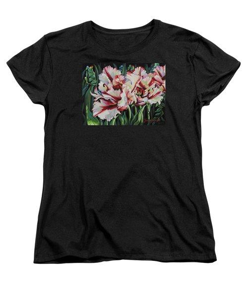 Fancy Parrot Tulips Women's T-Shirt (Standard Cut)