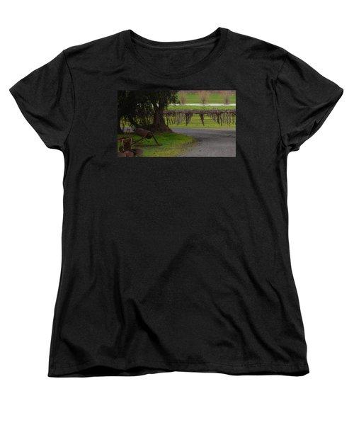 Farm And Vineyard Women's T-Shirt (Standard Cut) by Cheryl Miller