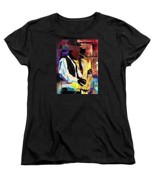 Fathead Newman Women's T-Shirt (Standard Cut) by Everett Spruill