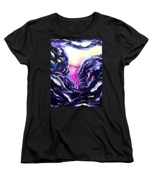 Women's T-Shirt (Standard Cut) featuring the painting Father's Heart by Hazel Holland