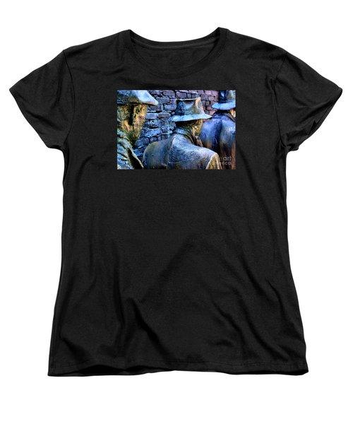 Women's T-Shirt (Standard Cut) featuring the photograph Franklin Roosevelt   Memorial Washington Dc by John S