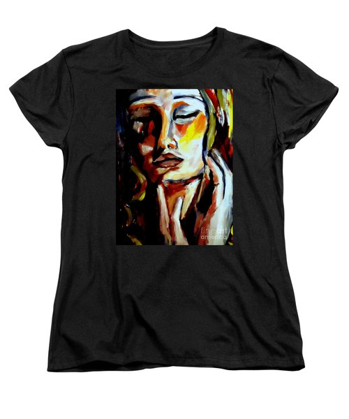 Women's T-Shirt (Standard Cut) featuring the painting Feel by Helena Wierzbicki
