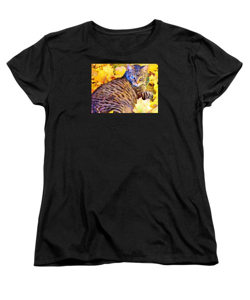 Women's T-Shirt (Standard Cut) featuring the photograph Feeling Fall by Marilyn Diaz