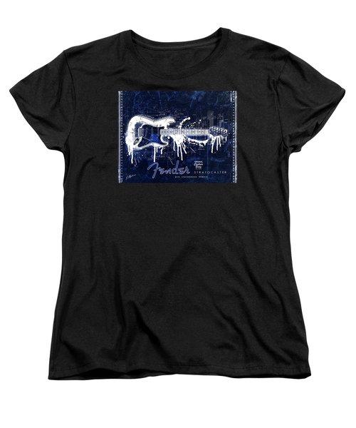 Fender Blueprint Washout Women's T-Shirt (Standard Cut)