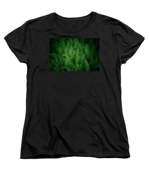 Fern Bed Women's T-Shirt (Standard Cut) by Shane Holsclaw