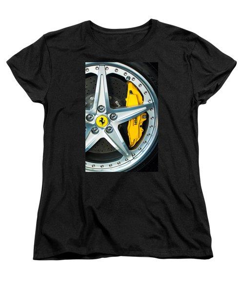 Ferrari Wheel 3 Women's T-Shirt (Standard Cut) by Jill Reger