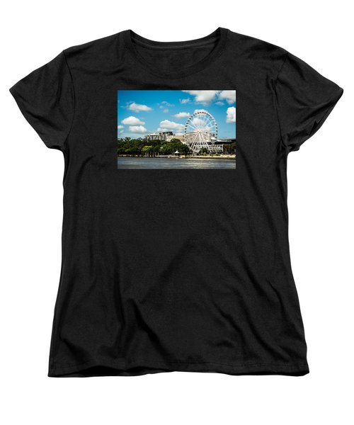 Ferris Wheel On The Brisbane River Women's T-Shirt (Standard Cut) by Parker Cunningham