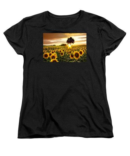 Fields Of Gold Women's T-Shirt (Standard Cut) by Debra and Dave Vanderlaan