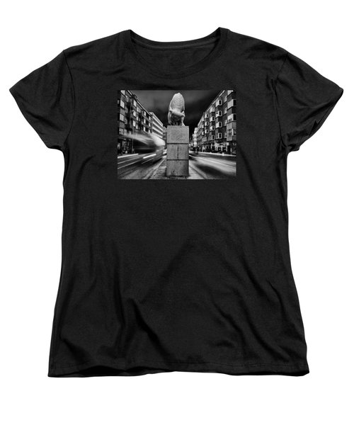 Bull Statue Women's T-Shirt (Standard Cut) by Mike Santis