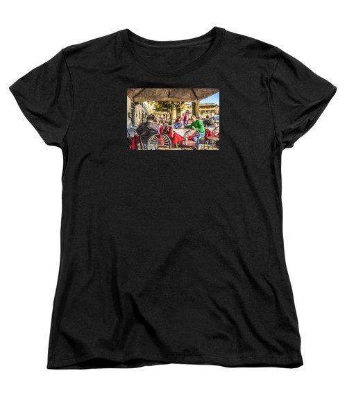 Fiesole Al Fresco Women's T-Shirt (Standard Cut) by Liz Leyden