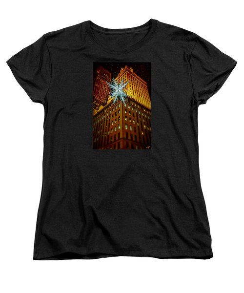Women's T-Shirt (Standard Cut) featuring the photograph Fifth Avenue Holiday Star by Chris Lord