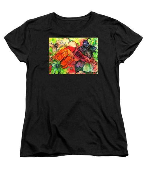 Women's T-Shirt (Standard Cut) featuring the painting Finding Sanctuary by Hazel Holland