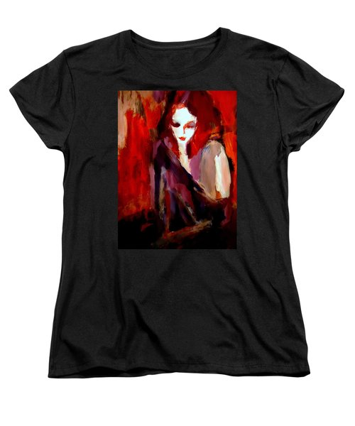 Women's T-Shirt (Standard Cut) featuring the painting Finesse by Helena Wierzbicki