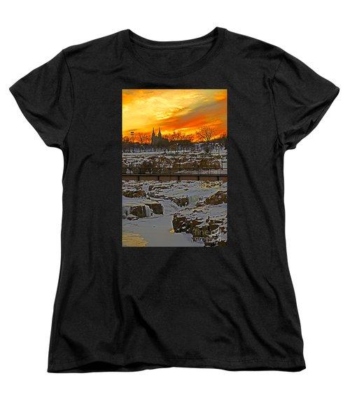 Fire And Ice Women's T-Shirt (Standard Cut) by Elizabeth Winter