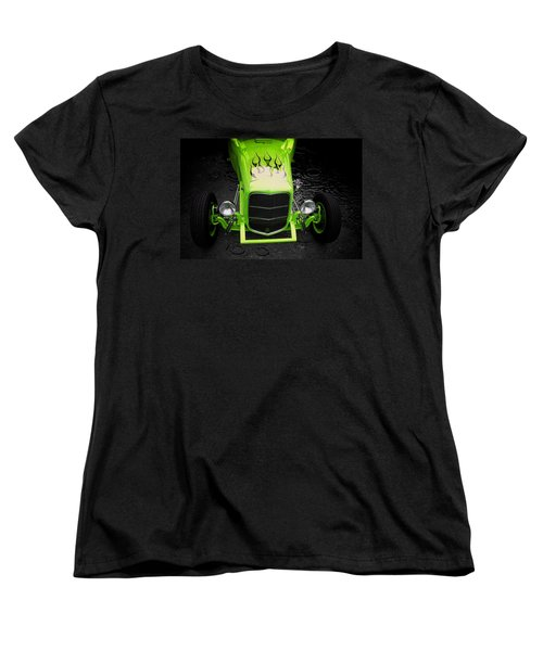 Hot Rod Women's T-Shirt (Standard Cut) featuring the photograph Fire And Water Green Version by Aaron Berg